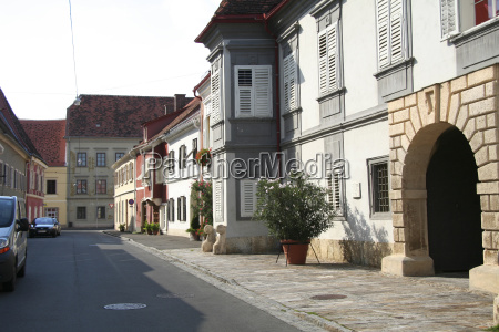 storico case austria citta vecchia strada
