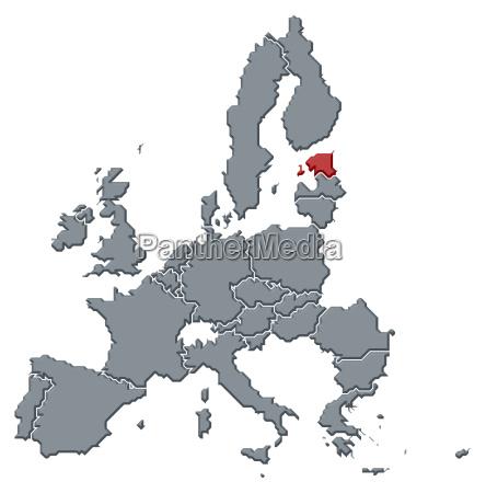 mappa dellunione europealestonia ha sottolineato