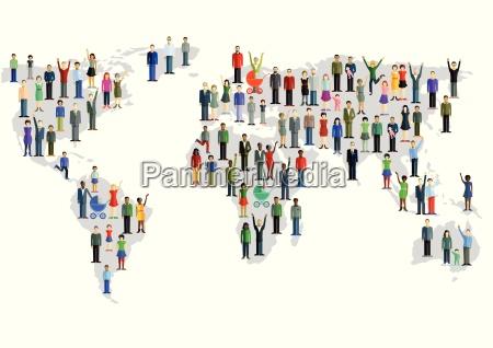gruppo di persone che formano una