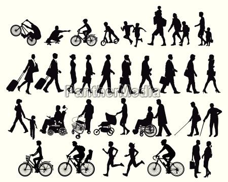la gente in movimento e le
