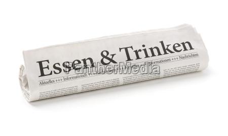 giornale tageblatt cibo bere cucinare cucina