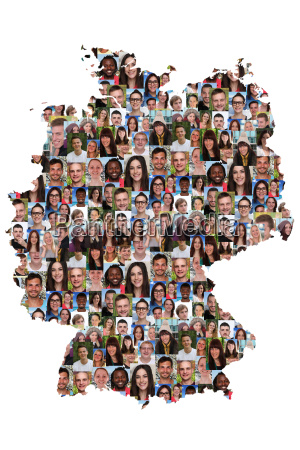 germania i giovani multiculturale carta gruppo