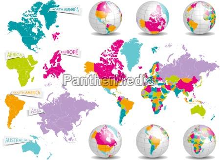 mappa pianeti globo terra pianeta continenti