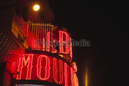 franciaparigilightes moulin rouge di notte