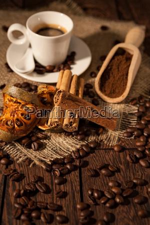 bicchiere caffe bere colore legno marrone