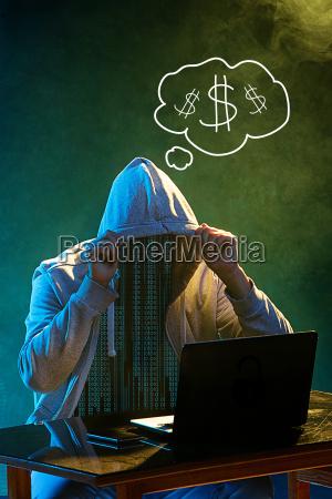 pericolo portatile computer nero anonimo crimine