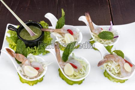 ristorante cibo salute legno caldo gamberetto