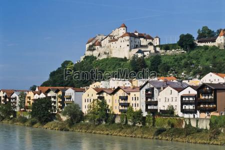 burghausen con il castello sopra il